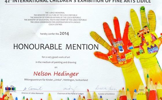 Международная выставка художественных произведений детей Лидице